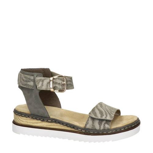 Rieker sandalen grijs/zebraprint