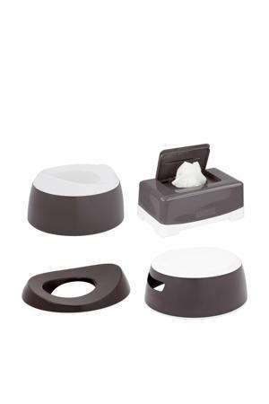 Toilet trainingsset 4delig Dark Grey