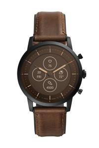 Fossil Collider Heren Hybrid HR Smartwatch FTW7008, Bruin