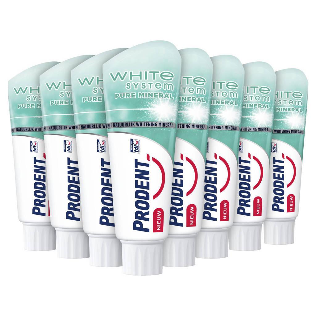 Prodent White System Pure Mineral tandpasta - 12 x 75 ml