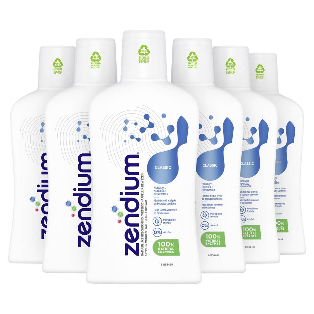 Zendium Classic mondwater 6 x 500 ml