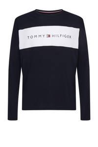 Tommy Hilfiger pyjamatop met logo donkerblauw, Donkerblauw