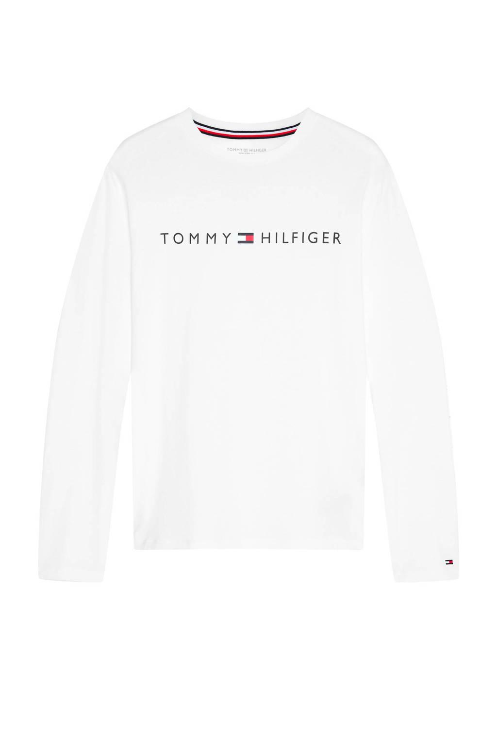 Tommy Hilfiger pyjamatop met logo wit, Wit