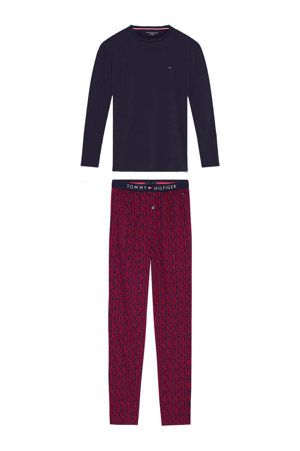 Tommy Hilfiger pyjama donkerblauw/rood, Donkerblauw/rood