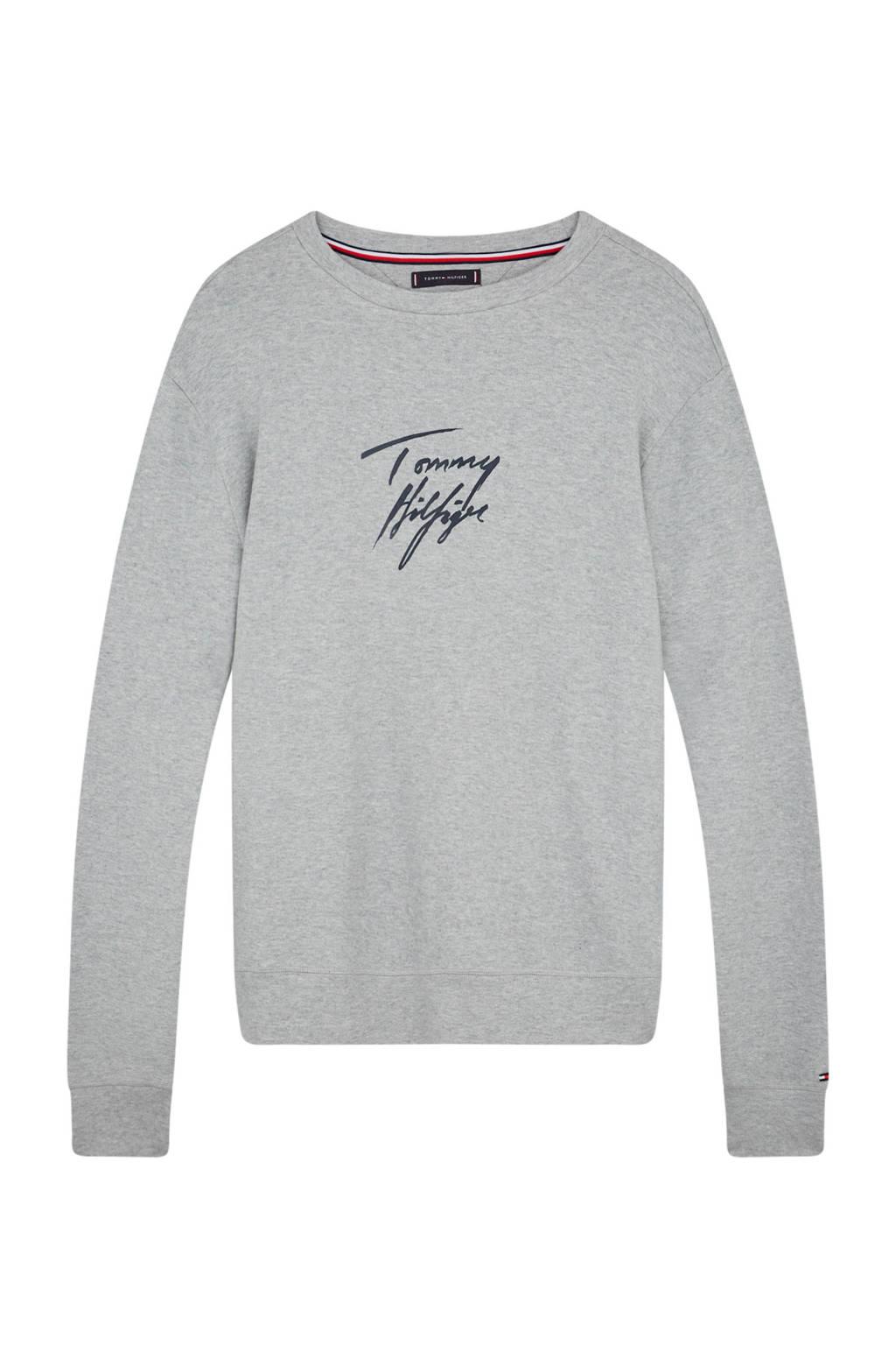 Tommy Hilfiger pyjamatop met logo grijs, Grijs