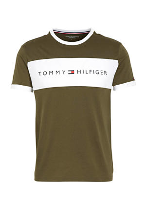T-shirt met merknaam groen