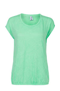 Miss Etam Regulier T-shirt met all over print groen, Groen