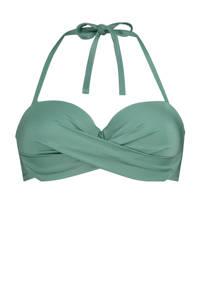 Hunkemöller strapless bandeau bikinitop SoCal groen, Groen