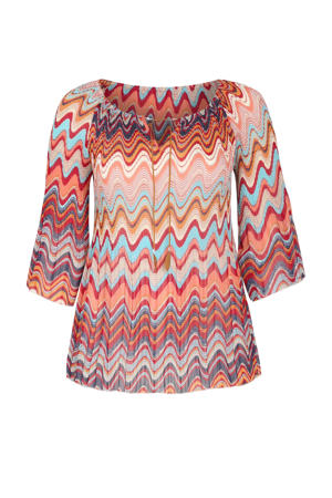 top met all over print roze/multi