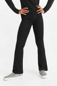 WE Fashion flared legging zwart, Zwart