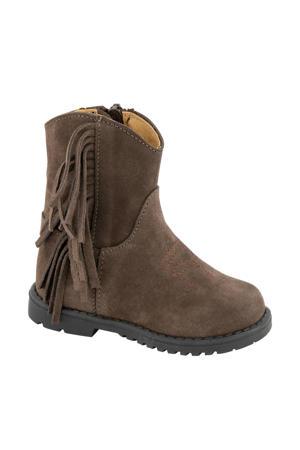 suède laarzen met franjes bruin