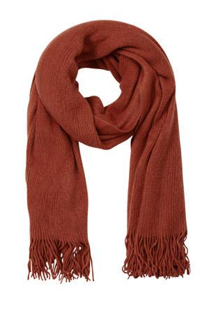 sjaal met franjes rood