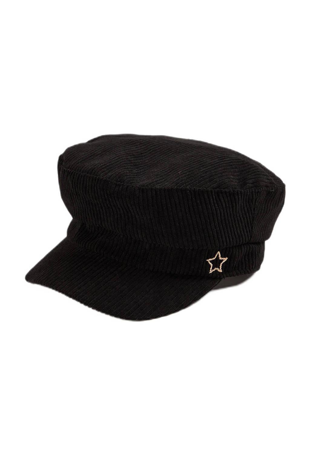 WE Fashion corduroy pet zwart, Black Uni