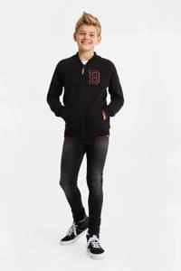 WE Fashion vest met 3D applicatie zwart, Zwart