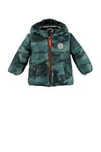Babyface gewatteerde winterjas met camouflageprint groen, Groen