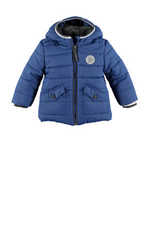 gewatteerde winterjas blauw