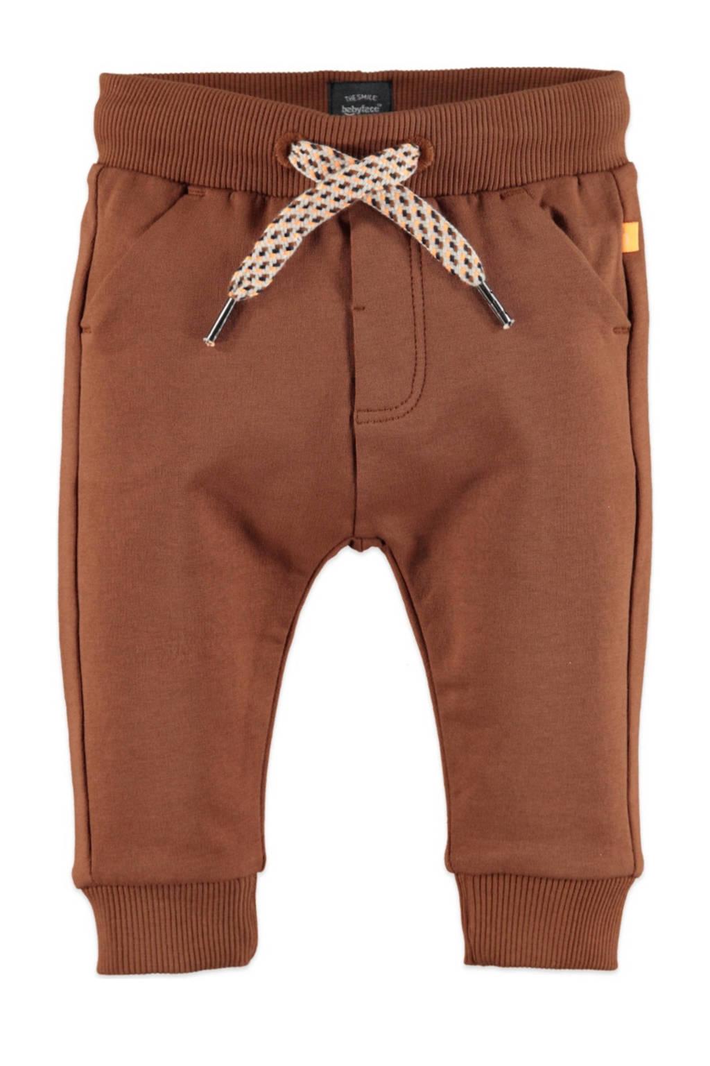 Babyface baby regular fit broek met biologisch katoen bruin, Bruin