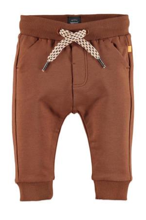 baby regular fit broek met biologisch katoen bruin