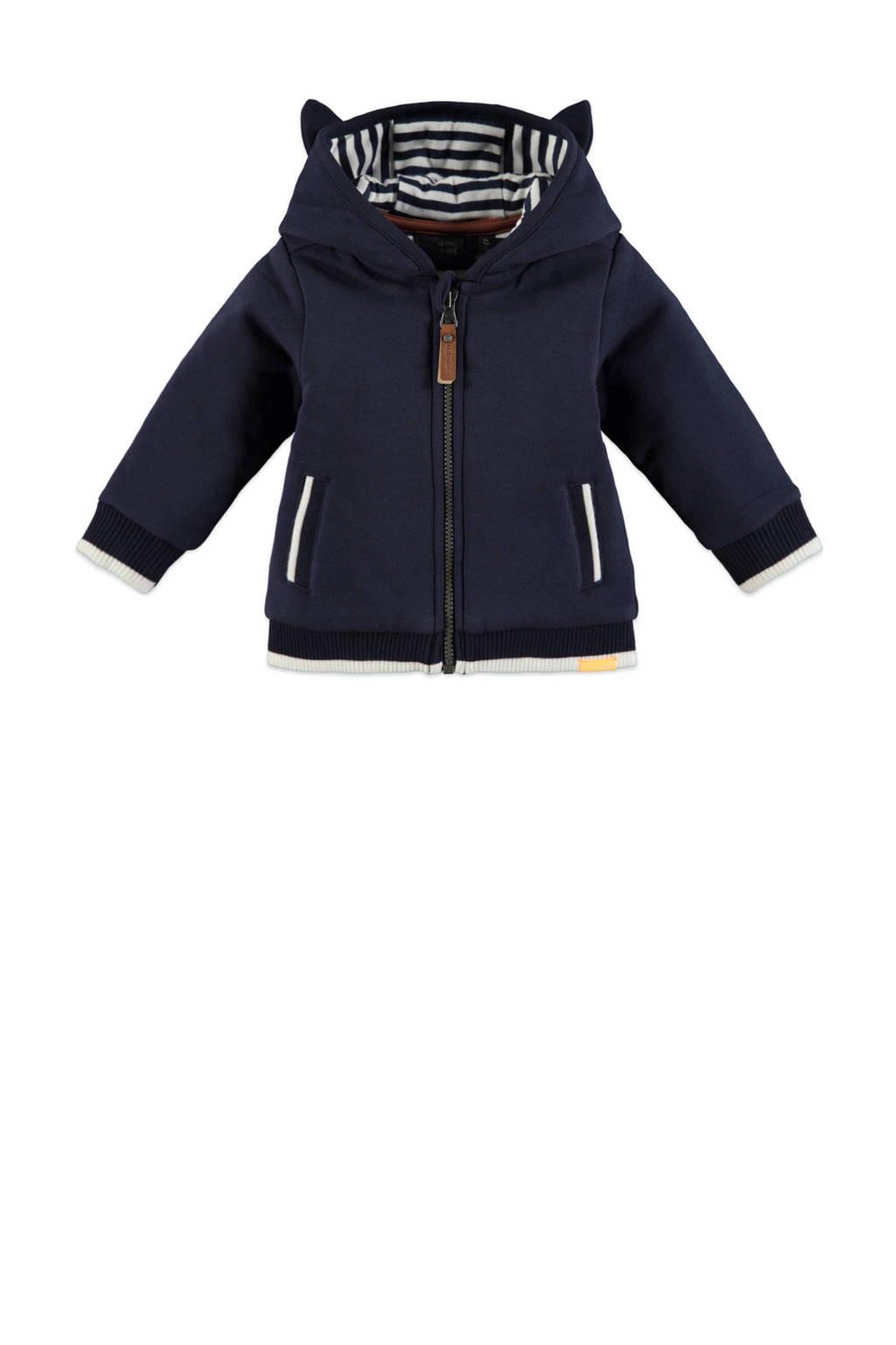 Babyface baby vest met biologisch katoen donkerblauw/wit, Donkerblauw/wit