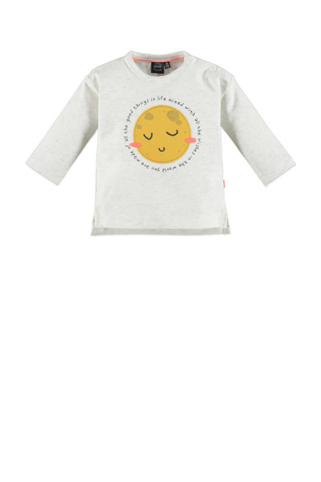 Babyface baby longsleeve met biologisch katoen ecru/geel, Ecru/geel