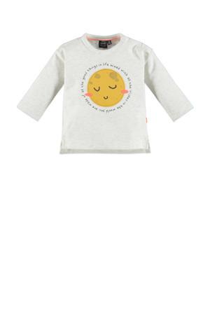 baby longsleeve met biologisch katoen ecru/geel