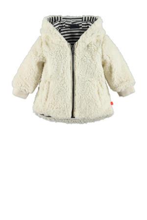 baby teddy jas ecru/zwart/wit