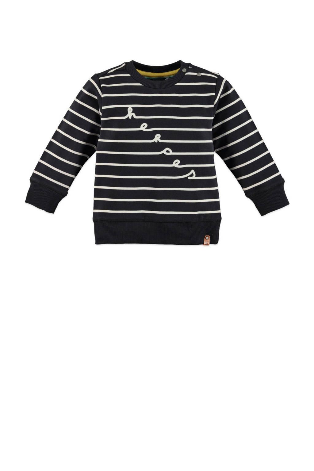 Babyface gestreepte sweater donkerblauw/wit, Donkerblauw/wit