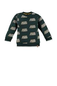 Babyface sweater met all over print donkergroen, Donkergroen