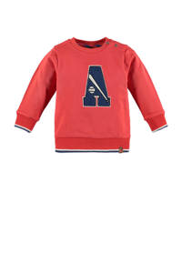 Babyface sweater rood/donkerblauw/wit, Rood/donkerblauw/wit