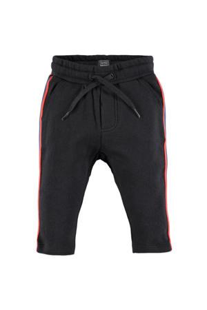 regular fit broek antraciet/rood/blauw