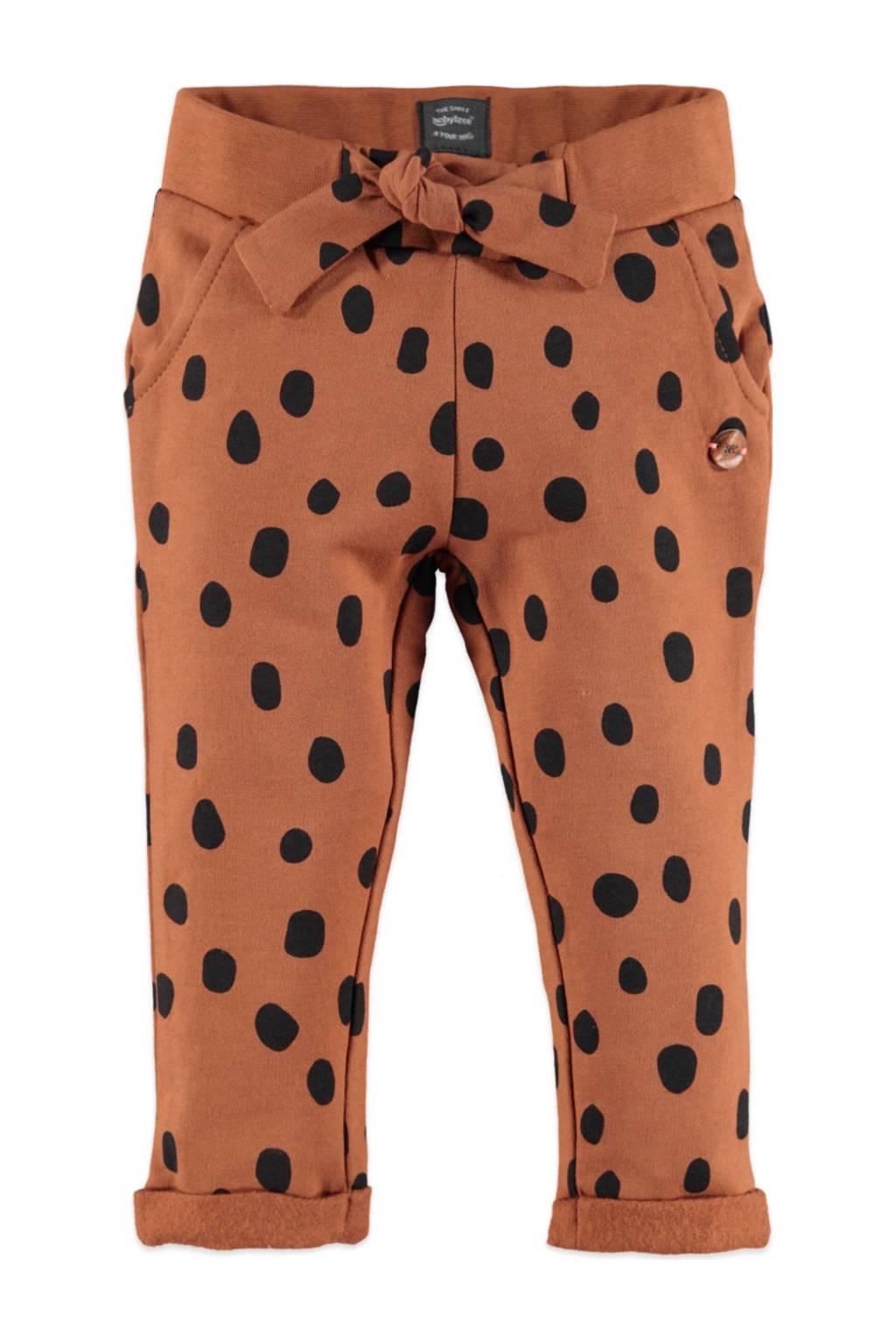 Babyface regular fit broek met stippen bruin/zwart, Bruin/zwart