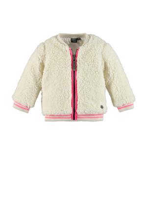 imitatiebont vest beige/roze