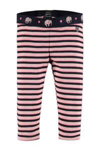 Babyface gestreepte regular fit legging roze/zwart, Roze/zwart
