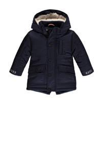 Babyface parka winterjas donkerblauw/wit, Donkerblauw/wit