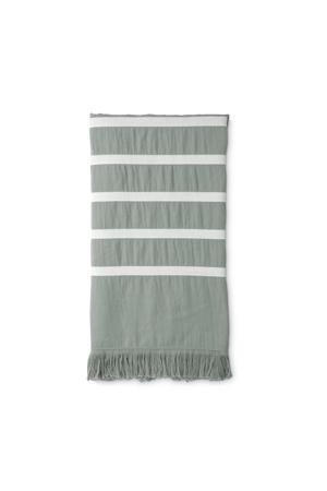 hammamdoek Fouta Sunny Stripes (180x100 cm) Lichtgroen