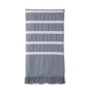 hammamdoek Fouta Sunny Stripes (180x100 cm) Blauw