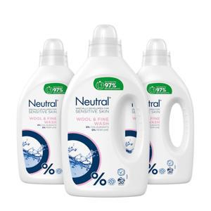 Vloeibaar fijnwasmiddel - 3 x 1 liter - 60 wasbeurten - 60 wasbeurten