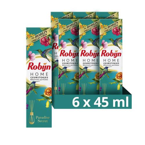 Robijn Paradise Secret geurstokjes - 6 x 45 ml