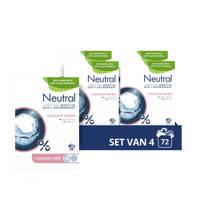 Neutral Parfumvrije waspoeder - 4 stuks  - 72 wasbeurten