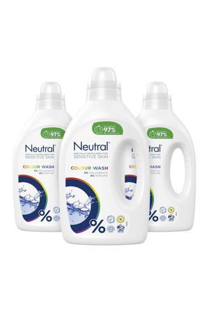 Parfumvrij wasmiddel - 3 x 1 liter - 60 wasbeurten - 60 wasbeurten