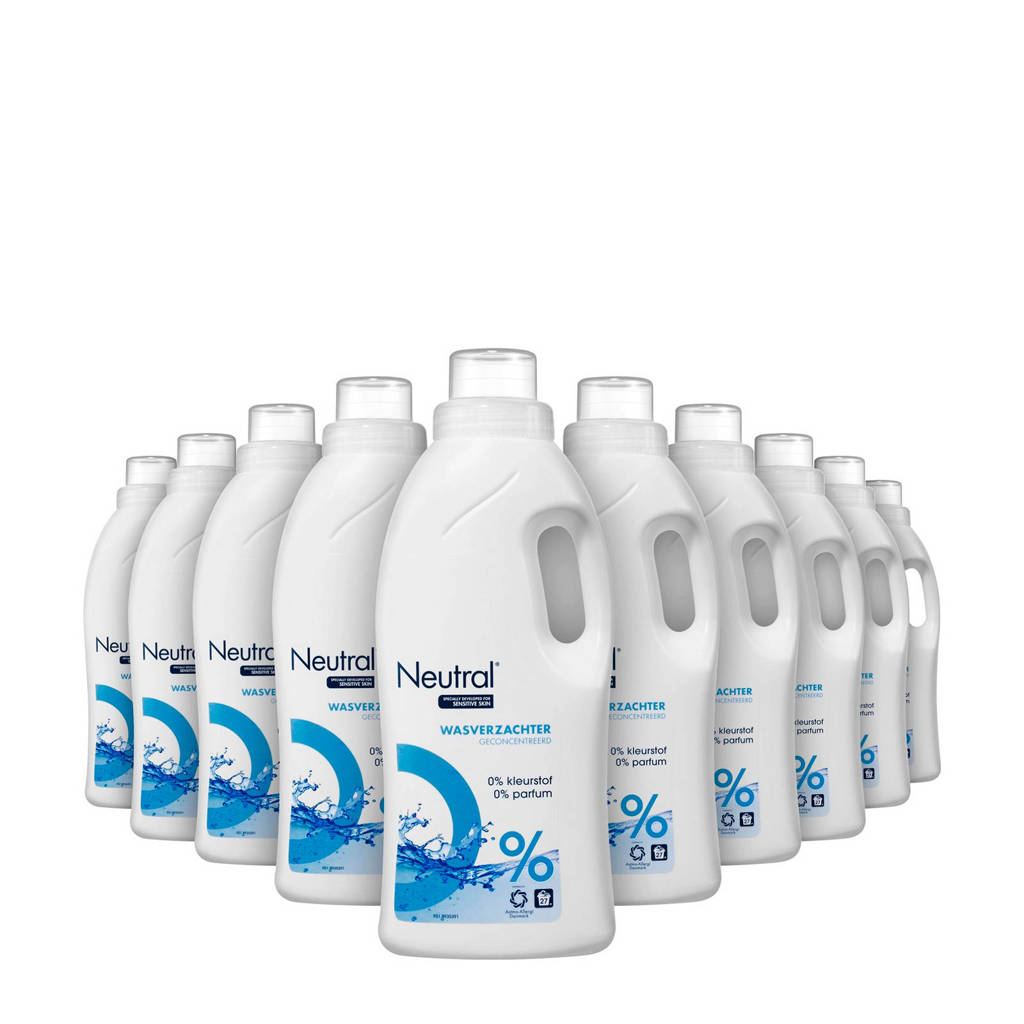 Neutral Parfumvrije wasverzachter - 10 x 750 ml -  wasbeurten
