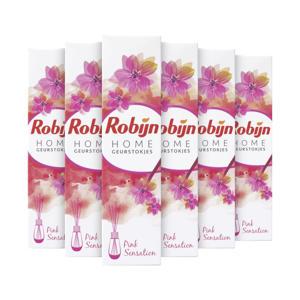 Pink Sensation geurstokjes - 6 x 45 ml
