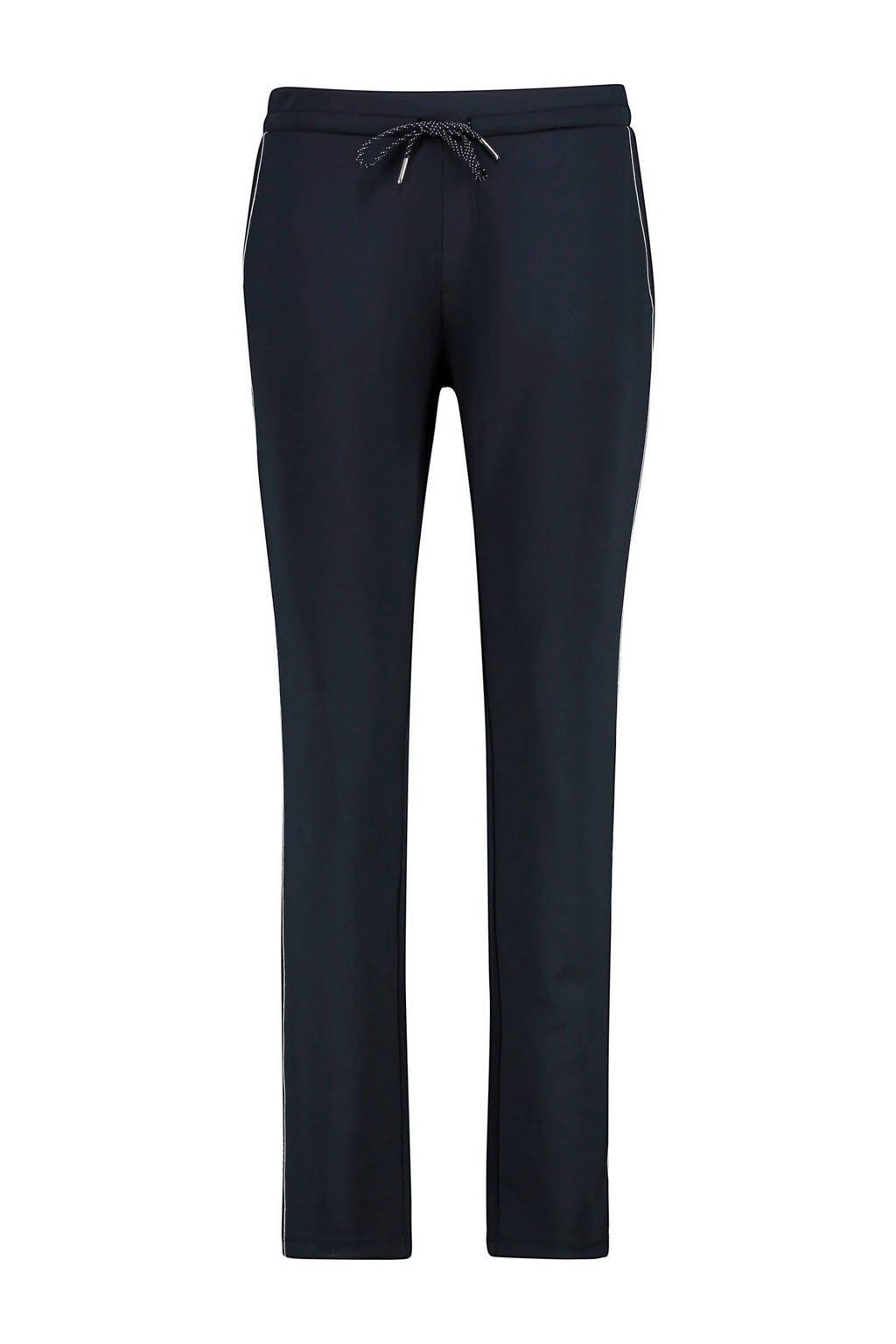 Expresso slim fit broek met zijstreep donkerblauw, Donkerblauw
