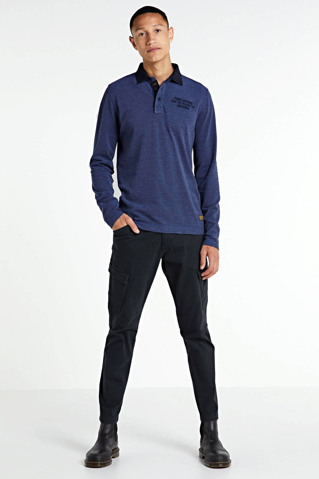 ESPRIT Men Casual regular fit cargobroek donkerblauw, Donkerblauw
