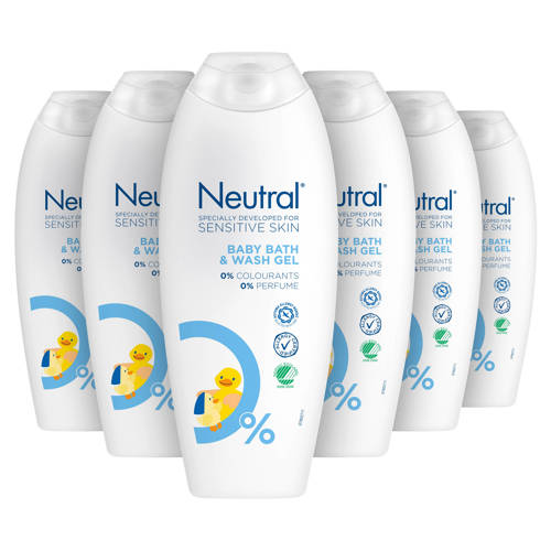 Neutral Parfumvrij babywasgel - 6 x 250 ml