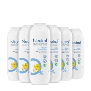 parfumvrij baby Shampoo - 6 x 250 ml - Voordeelverpakking