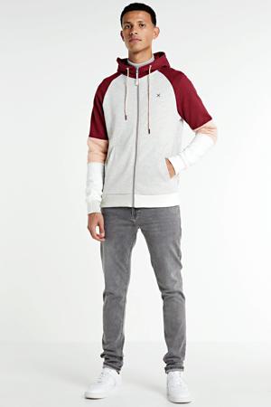 vest grijs/rood/wit