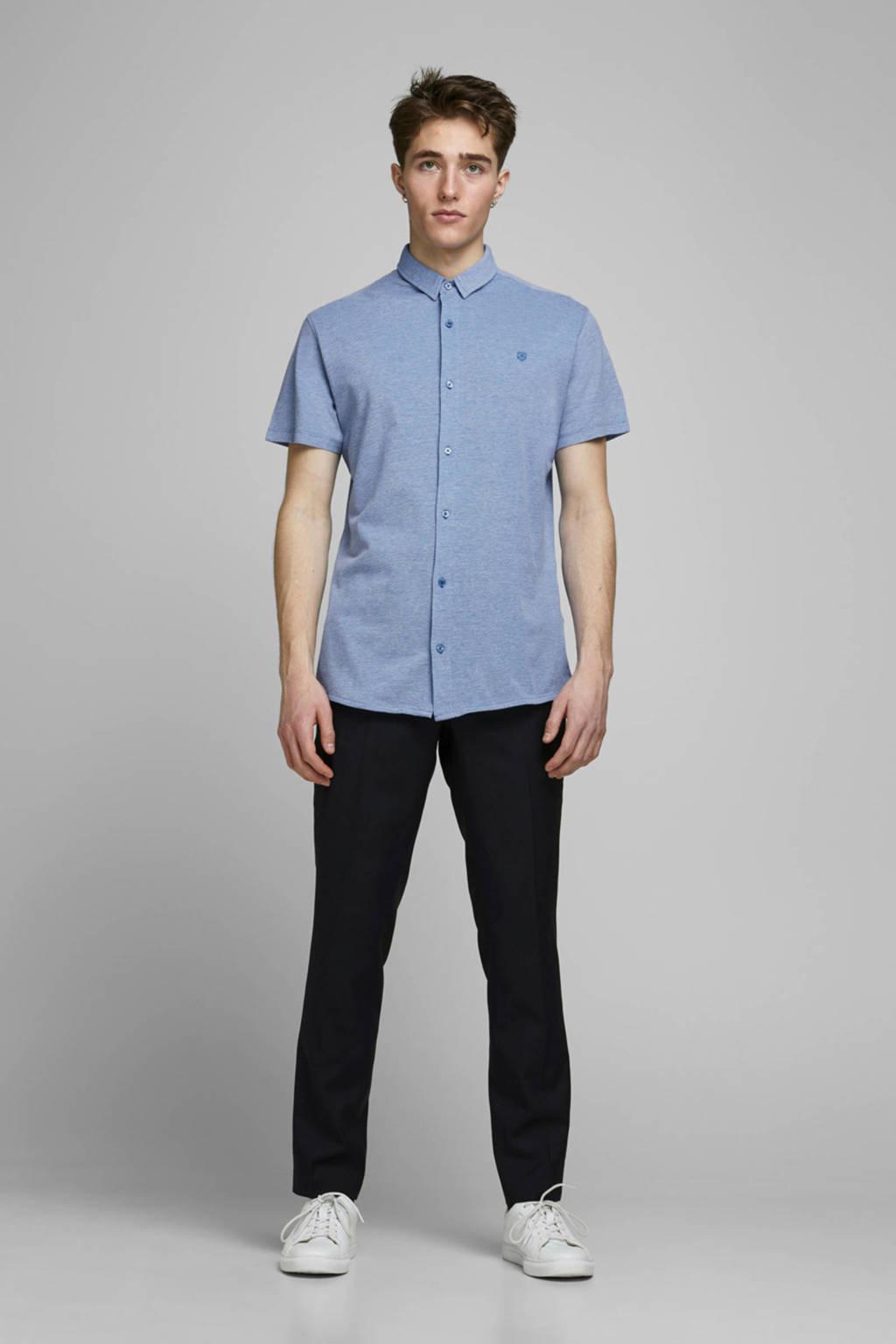 JACK & JONES PREMIUM gemêleerd slim fit overhemd lichtblauw, Lichtblauw