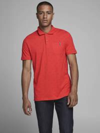 JACK & JONES CORE regular fit polo met stippen rood, Rood