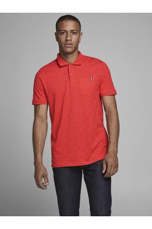 regular fit polo met stippen rood